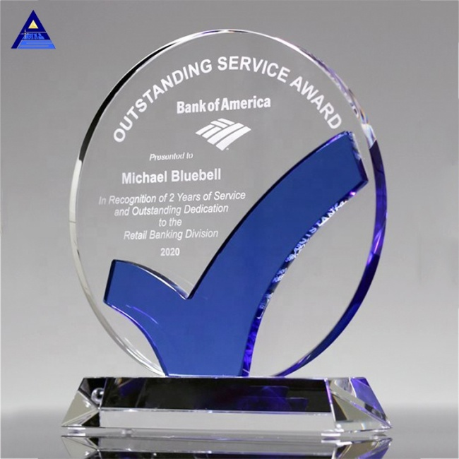 2019 High Quality Creative Custom Round Shaped K9 Crystal Trophy Award