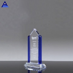 Pacifica Summit Engraved Crystal Award Trophy for Business Honor Gifts