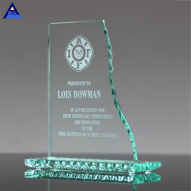 Latest Style High Quality 3D Engraving K9 Jade Crystal Trophy Blank