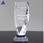 Custom Wholesale Cheap Glass And Crystal Award Plaque Fashion Design Blank Crystal Trophy Glass