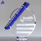 Factory Supply Different Types Blue Crystal Dynamix Award Trophy Home Decoration Crystal For Wholesale