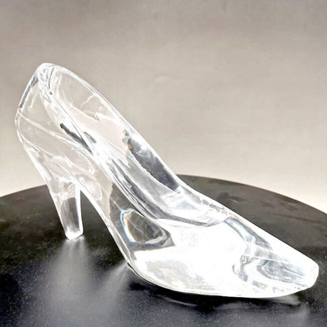 New Crystal Glass Shoes Princess High-heeled Shoes for Wedding Birthday Souvenir Home Decoration Romantic Gift