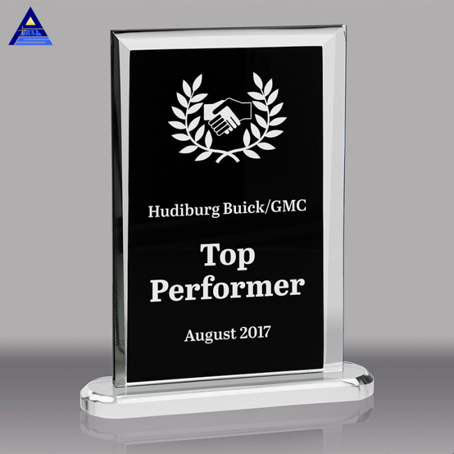 Sublimation Clear And Black Business K9 Crystal Glass Sample Award Plaques For Gifts