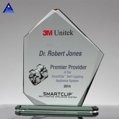 2019 Newest Pentagonal Shape Crystal Summit Jade Glass Award