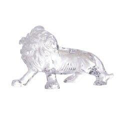 Fengshui Wholesale Custom Animal Figurine Decorative Majestic Crystal Lion Figurine For Business Gift