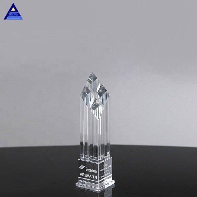 Wholesale Polished Peak Obelisk Award Rhombus Crystal Elite Crystal Awards