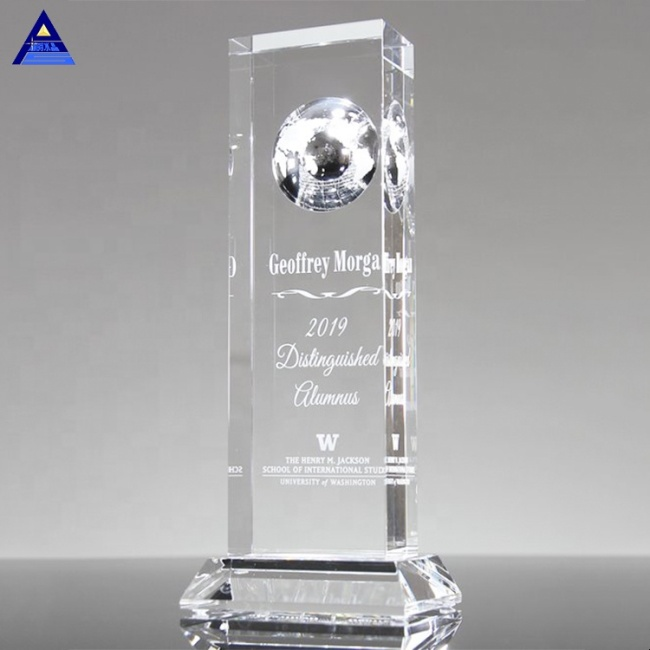 The Vision Crystal World Globe Paperweight,,Christmas Crystal Ball With Clear Base