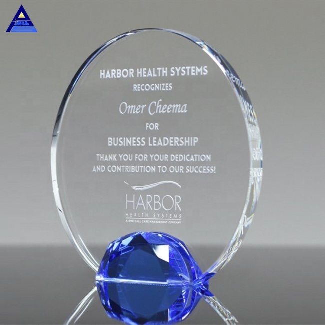 Luxury Art 2019 Engraved Jeweled Halo Crystal Award ,Wholesale Trophies And Plaques