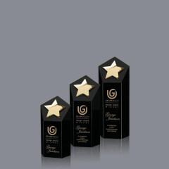 Custom wholesale high quality crystal trophy K9 metal star trophy award