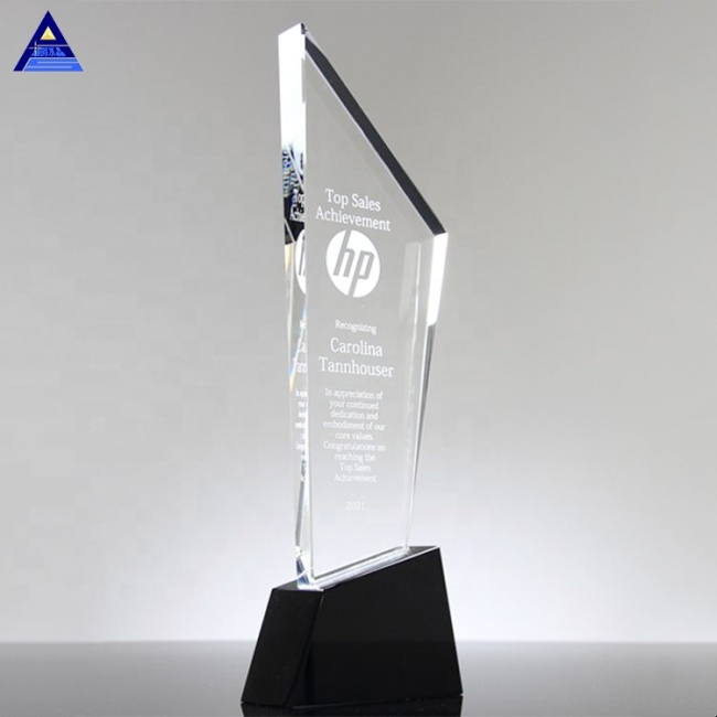 Newest Crystal Sky Scraper Award Trophy For Office Table Decoration