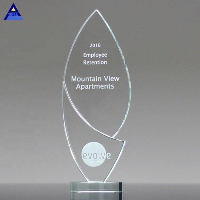 Most Popular Hot New Product Transparent Elegant Enlighten Crystal Award Trophy