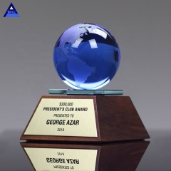 Graduation Gifts Galaxy Award Trophy Blue Crystal Globe Ball Gifts