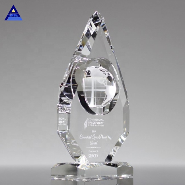 Personalized Etched Crystal Glass Global Awards for Success Employees Souvenirs
