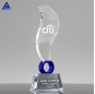 Factory Sales Color Elliptic Blue Flame Crystal Glass Award Trophy