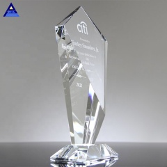 Crystal Sky Scraper Award Trophy,Crystal Glass Gift Glass Trophy Blanks