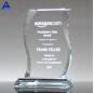 Custom Retail Blank Flame Shape Clear Crystal Award With Logo