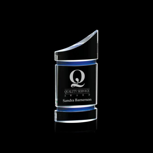 Certificate Frame Customize Cheap Blank Glass Crystal Shield Award Custom Plaque