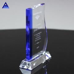 2019 Customized Clear Avant Crystal Plaque Glass Award With Base