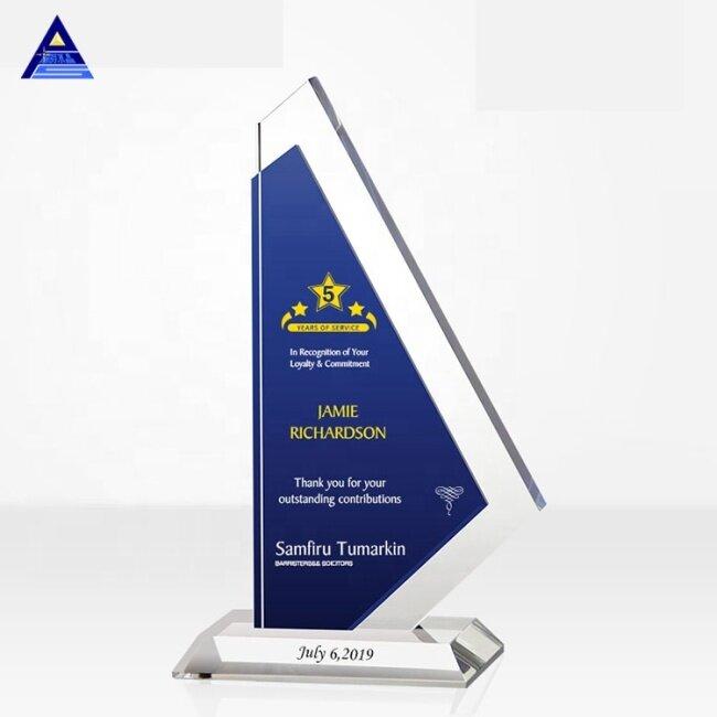 Pujiang Factory Free Design Custom K9 Blank Crystal Trophy Laser Engraved 3d Trophy Crystal Awards For Business Gift