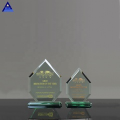 2019 High Grade Cheap Clear K9 Crystal Shield Glass Award Jade Trophy