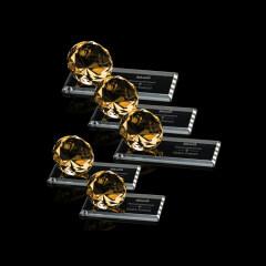 Wholesale cheap Custom fashion Pujiang k9 blue transparent diamond crystal trophy