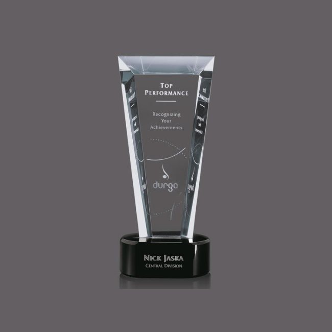 Hot Sale Blank Rectangle Shape Clear Crystal Awards Plaque Glass Memorial Trophy