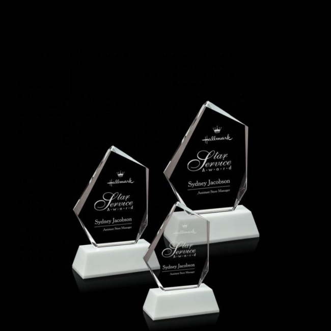 Low Cost High Quality Wholesale Laser Engraving Logo Crystal Trophy Plaque Crystal Awards Trophy