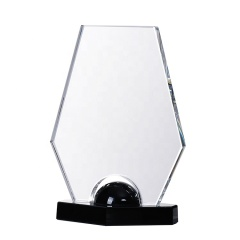 Wholesale Newest Exalted Custom Blank Crystal Glass Award Trophy For Sports Events