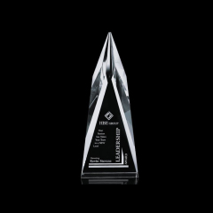 Wholesale Custom Cheap Clear Blank Glass Crystal Flame Shape Award Plaques For Business Gift