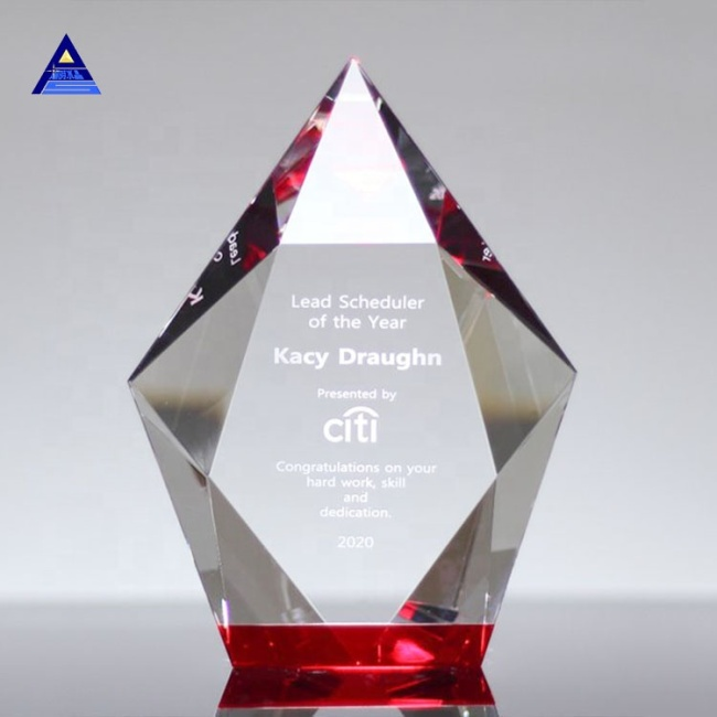 High Quality Obelisk Optical Crystal Trophy Awards For Laser Engraving