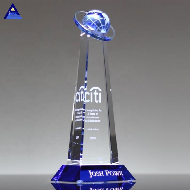 2019 New Design Orbit Crystal Trophy Global Awards For Business Gift