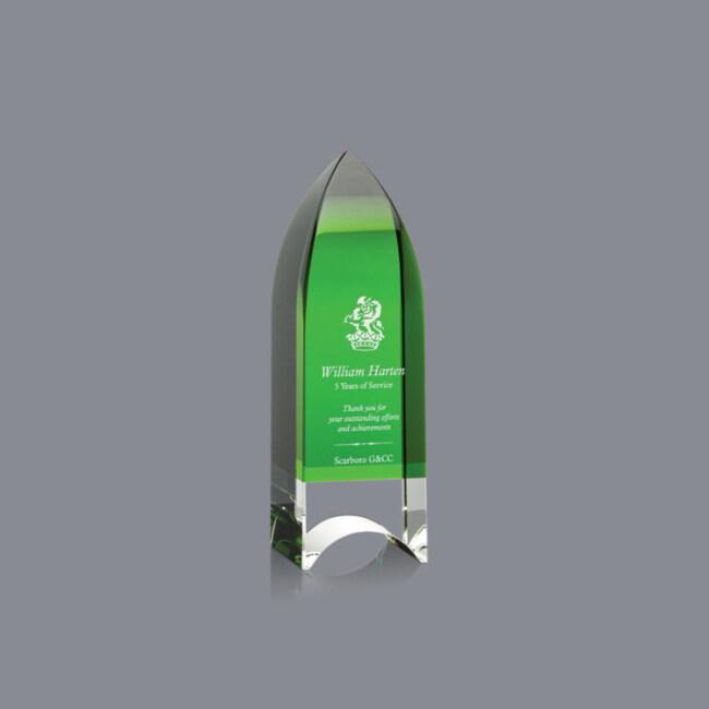 Factory Price Colors Crystal Pillar Obelisk Trophy And Radiant Obelisk Award For Annual Award