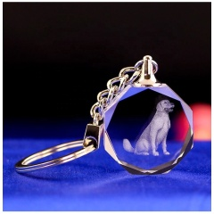 Popular Company Advertizing Promotion Gifts 3D Crystal Keyrings