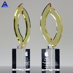 New Design Creative Flame Shape Wholesale Crystal Trophy For Business Gift