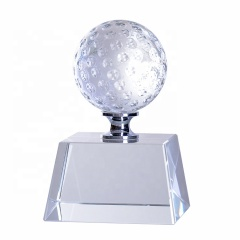 Wholesale Low Price High Quality Custom Badminton Sports Crystal Trophy Award For Souvenir
