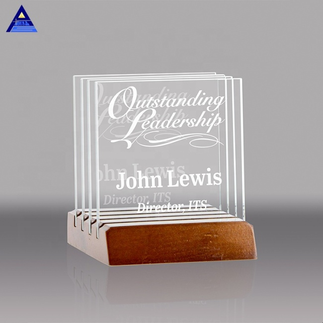 Wholesale Custom 3D Laser Engraved Crystal Square Wedding Gift For Wedding Souvenir