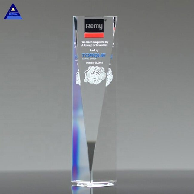 High Quality Cheap New Design Excelsior Crystal Trophy And Awards