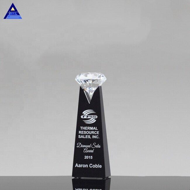 Unique Design 3d Laser Engravable Rising Diamond Crystal Award Trophy