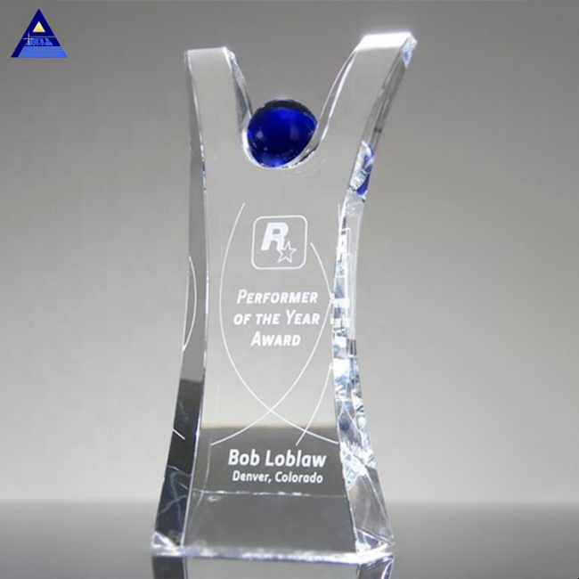High Quality Conquest K9 Blank Plaque Conquest Trophy Crystal With Engraving