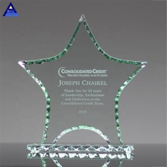 Genuine Free Engraving Faceted Crystal Star Award Trophy