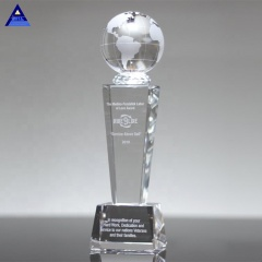 2019 Hot Sell New Product Heavyweight Galaxy Crystal Globe Trophy