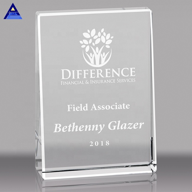Creative Design Crystal Award Crystal Trophy And Crystal Crafts With Engraved Logo