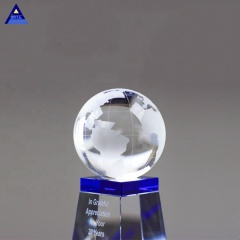 Globe Engraved Crystal Planet Trophy for Business Table Gifts