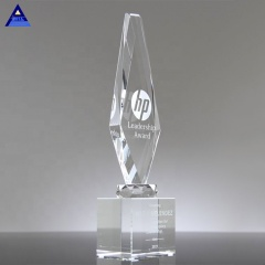Custom Apex Obelisk Crystal Pillar Obelisk Trophy Award, Crystal Obelisk Trophy