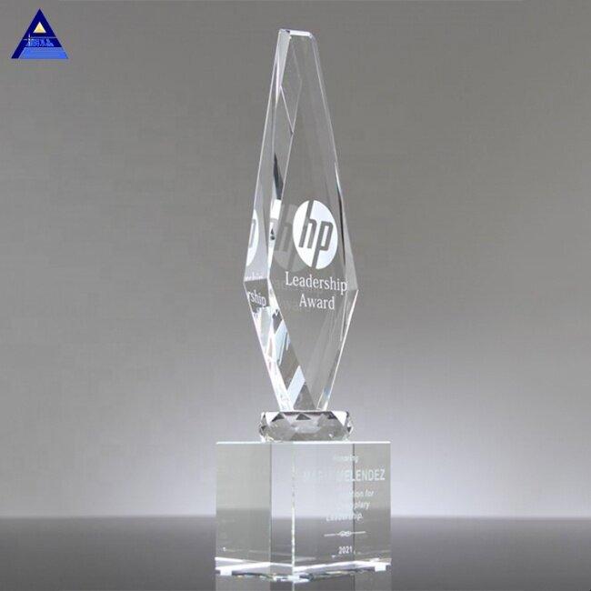 Custom Apex Obelisk Crystal Pillar Obelisk Trophy Award, Crystal Obelisk Trophy