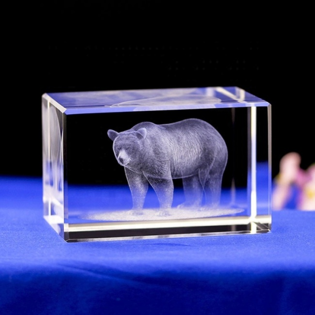 Crystal Laser Cutting Crystal Award Crystal Cube for 3d Laser Engraving Business Gifts