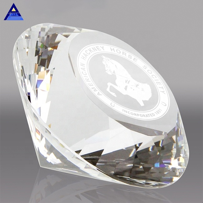 Wholesale Cheap Glass Diamonds Paperweights Clear K9 Crystal Diamonds for Home Decoration