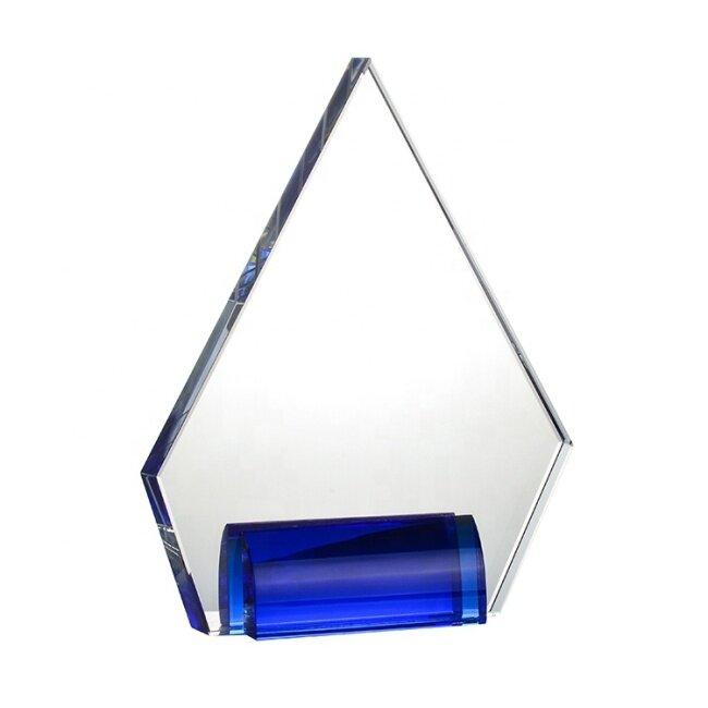 Clear Souvenir Trophy Awards Custom Acrylic Awards Plaque For Outstanding Work Reward