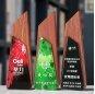 New Design Crystal Wooden Award Trophy For Personal Ice Peak Obelisk Crystal Trophy