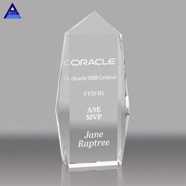 Laser Engraving Crystal Trophy Plaque, Plaque Crystal Trophy Award